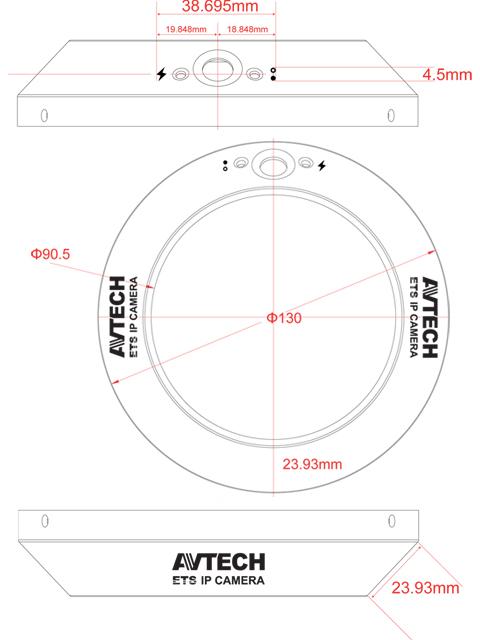 AVTECH AVM328 Mpix - Kamery kopułkowe IP
