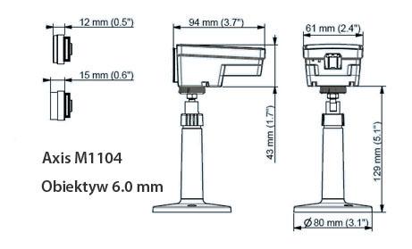 AXIS M1104 6.0MM Mpix - Kamery kompaktowe IP