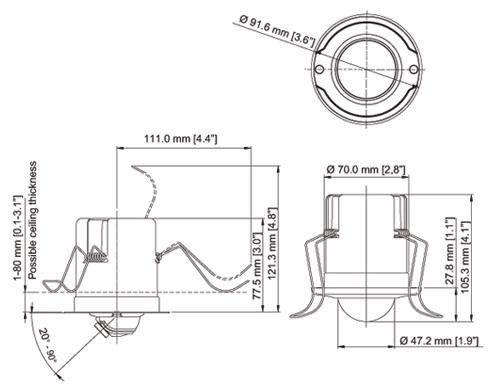 AXIS M3014 Mpix - Kamery kopułkowe IP