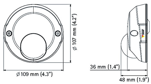 AXIS M3114-R RJ-45 / M12 Mpix - Kamery kopułkowe IP