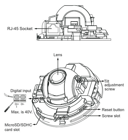 Vivotek FD8166-F2 - Kamery kopułkowe IP