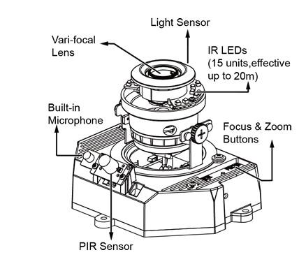 Vivotek FD8171 - Kamery kopułkowe IP